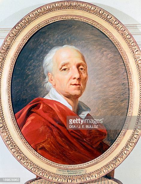 Portrait of Denis Diderot French philosopher and writer Painting by Jean Simon Berthelemy Paris Hôtel Carnavalet