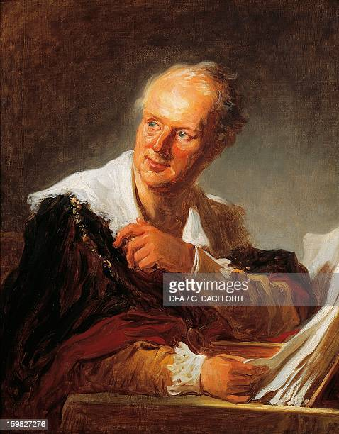 Portrait of Denis Diderot French philosopher and writer Painting by JeanHonore Fragonard Paris Musée Du Louvre
