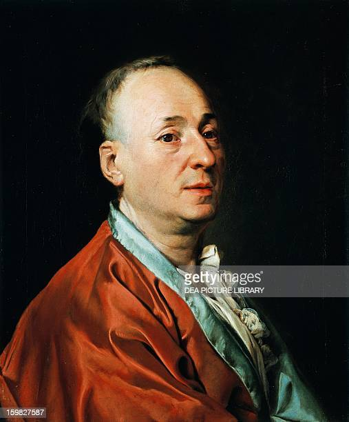 Portrait of Denis Diderot French philosopher and writer Painting by Dmitry Grigorevich Levickij Geneva Musée D'Art Et D'Histoire
