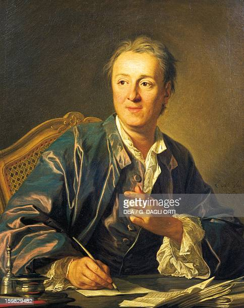 Portrait of Denis Diderot French philosopher and writer Painting by LouisMichel van Loo Paris Musée Du Louvre