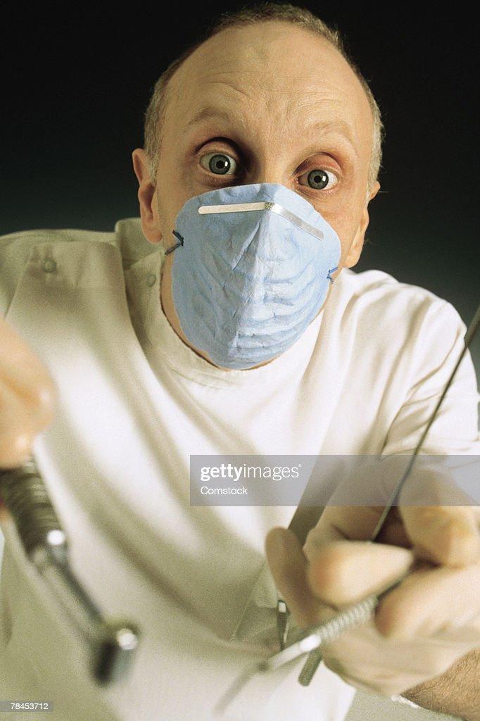 Portrait of dentist : Stockfoto
