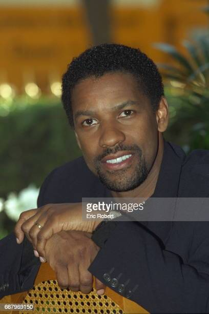 Portrait of Denzel Washington star of the movie