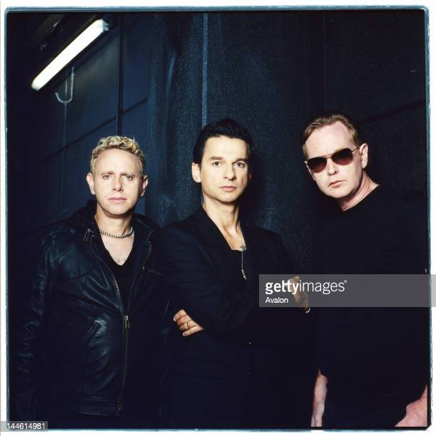 Portrait of Depeche Mode photographed in Cologne Germany in September 2005 From left to right Martin Gore Dave Gahan and Andy Fletcher 24203 Exclusive