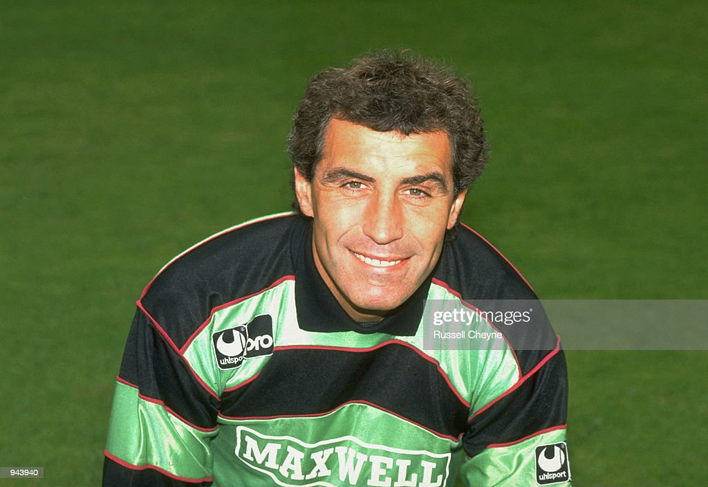 Portrait of Derby County goalkeeper Peter Shilton. \ Mandatory Credit: Russell Cheyne /Allsport