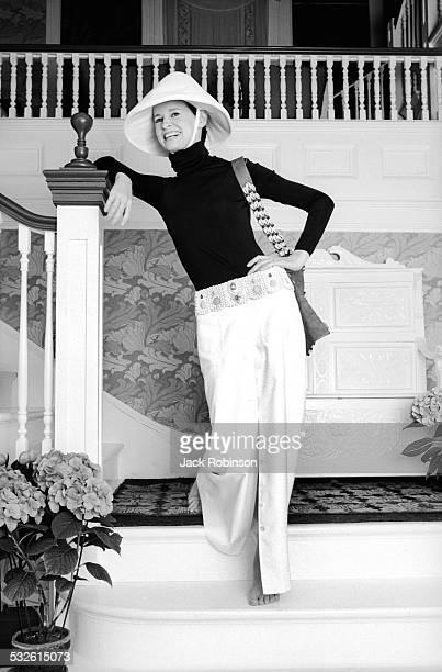 Portrait of designer Gloria Vanderbilt late 1960s or early 1970s