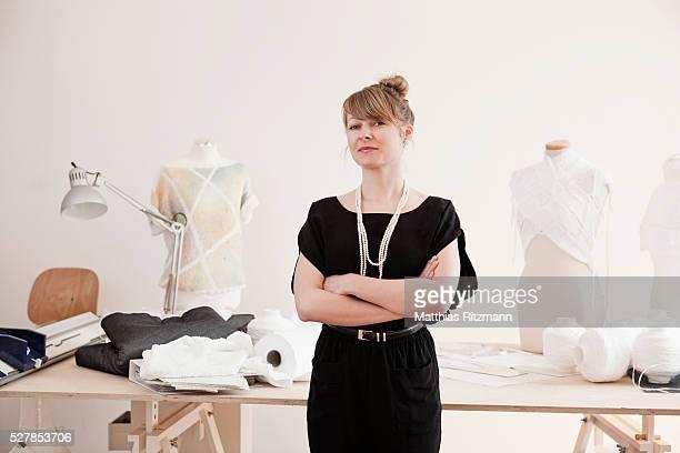 Portrait of designer in workshop