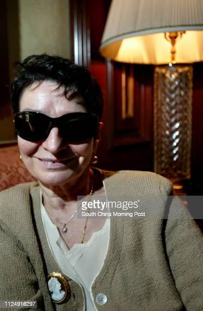 Portrait of designer Olga Berluti. Ritz-Carlton Hotel, Central. 30 March 2006.