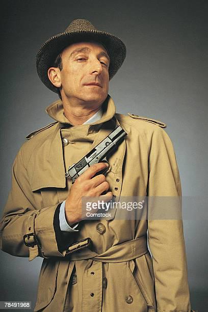 Portrait of detective or secret agent