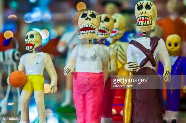 a portrait of dia de los muertos - dia de muertos stock photos and pictures