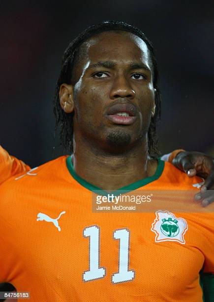 A portrait of Didier Drogba of the Ivory Coast during the International Friendly match between Turkey and the Ivory Coast at the Izmir Ataturk...