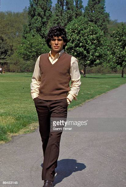 Portrait of Diego Armando Maradona argentinian football player