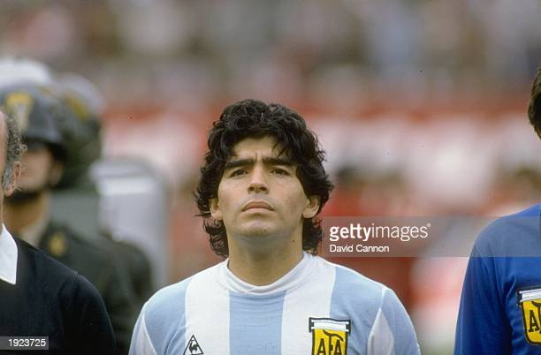 Portrait of Diego Maradona before the World Cup qualifying match against Peru Peru won the match 10 Mandatory Credit David Cannon/Allsport