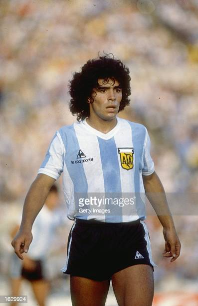Portrait of Diego Maradona of Argentina during a match Mandatory Credit Allsport UK /Allsport
