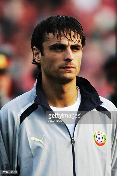 A portrait of Dimitar Berbatov of Bulgaria prior to the Group 8 World Cup Qualifying match between Bulgaria and Sweden at the National stadium Vassil...