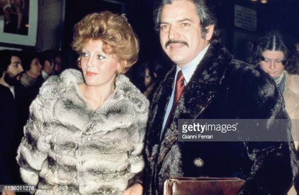 Portrait of divorced couple Spanish actress collector and philanthropist Carmen Cervera and Venezuelan actor Espartaco Santoni Madrid Spain 1991