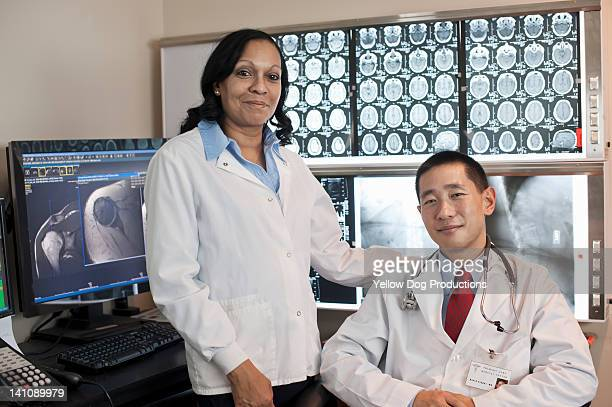 Portrait of Doctor and Technician in Radiology lab