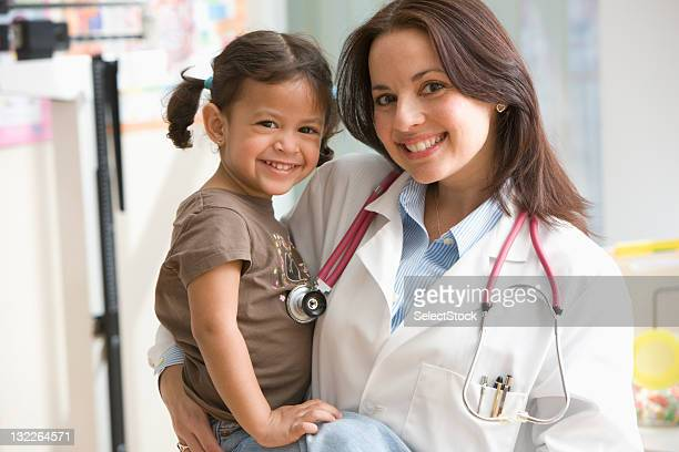 Portrait of Doctor and toddler patient