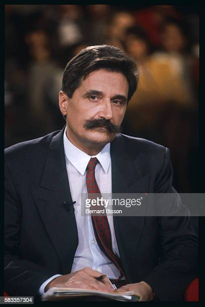 Portrait of Doctor Michel Garetta during the debate TV show La Marche du Siecle about the French scandal of contaminated blood In 1985 people mostly...