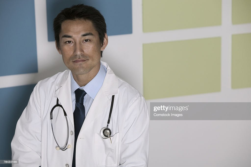 Portrait of doctor : Stockfoto