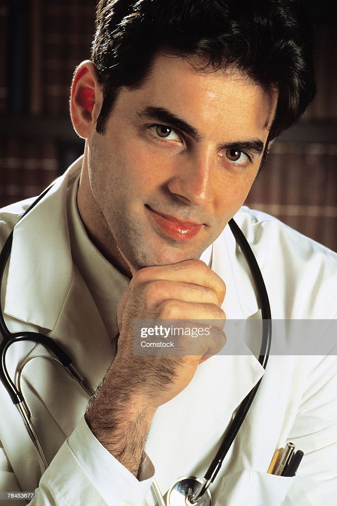 Portrait of doctor : Stockfoto