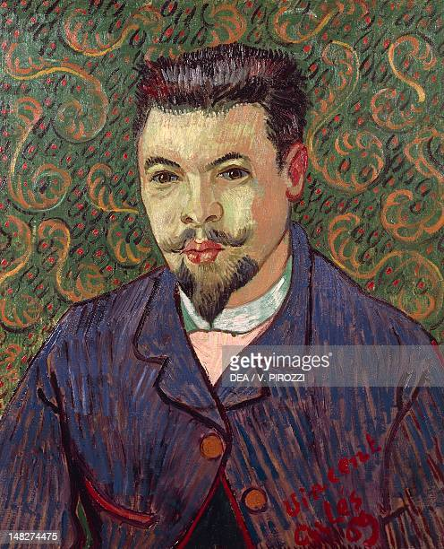 Portrait of Doctor Rey by Vincent van Gogh oil on canvas 63x53 cm Mosca Gosudarstvennyj Muzej A S Puskina