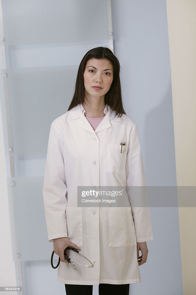 Portrait of doctor with stethoscope : Stockfoto
