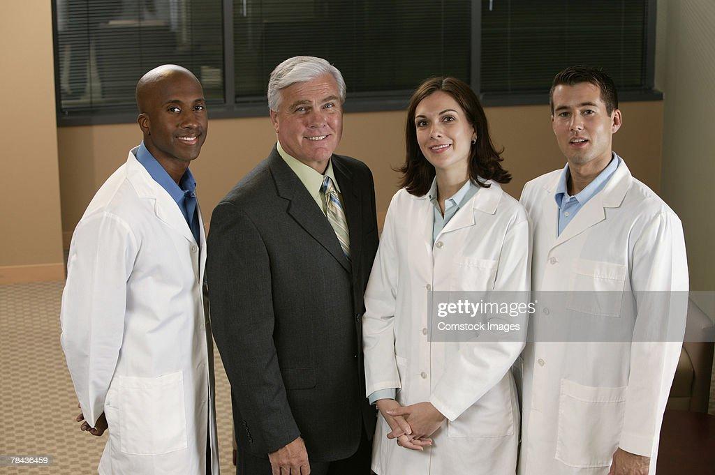 Portrait of doctors and businessman : Stockfoto