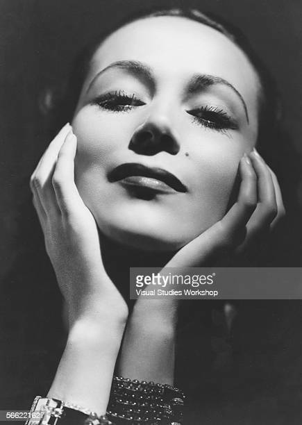 Portrait of Dolores del Rio, a Mexican film actress, taken by Ferenc, noted Viennese photographer, Hollywood, California, early to mid 20th century.