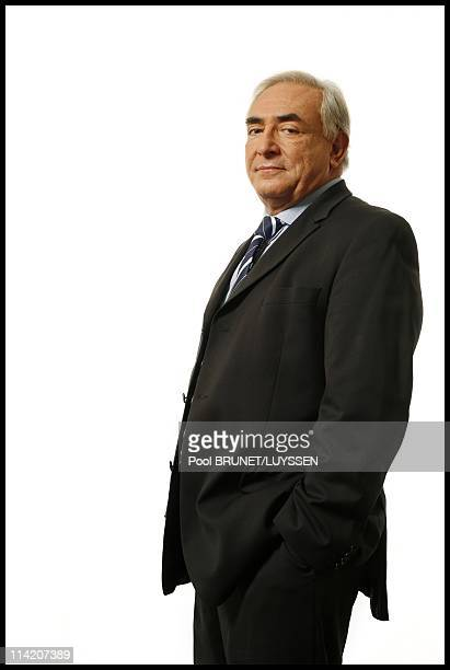 Portrait of Dominique StraussKahn French candidate for the position of Managing director of the International Monetary Fund in Paris France on...