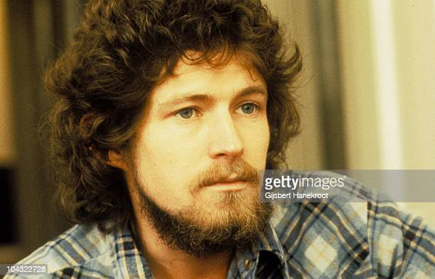 A portrait of Don Henley of The Eagles during an interview in London in 1973