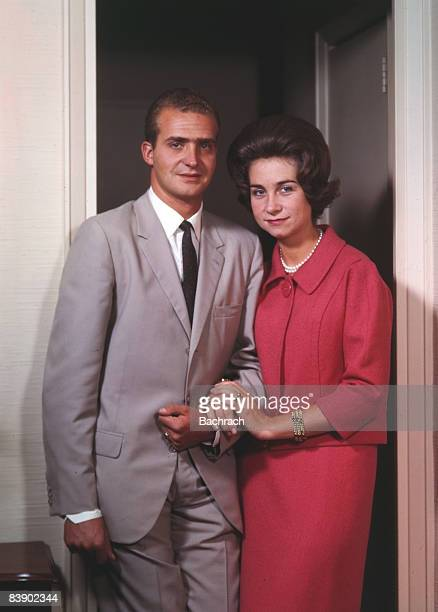 Portrait of Don Juan Carlos and his wife Sophia , the reigning king and queen of Spain, 1962. New York.