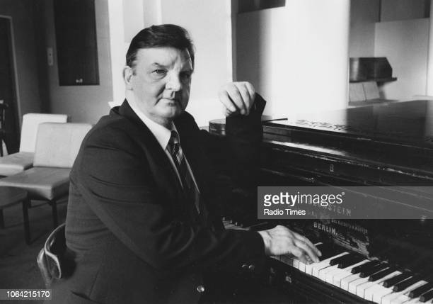 Portrait of Don Price playing the piano January 9th 1983