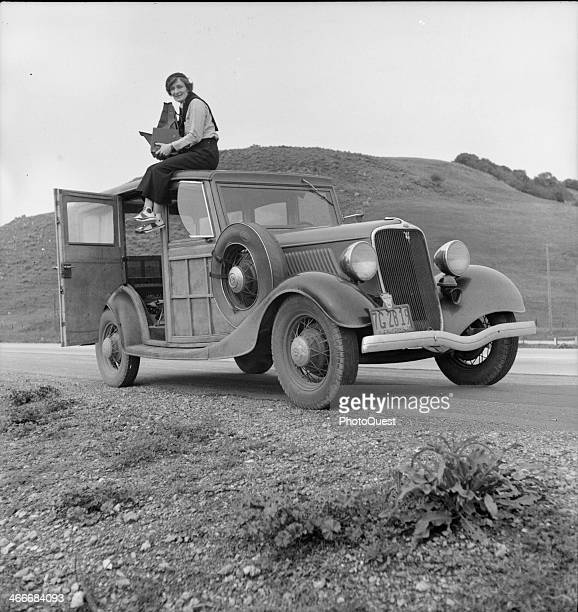 Portrait of Dorothea Lange , influential documentary photographer for the Farm Security Administration, known for her moving images of poverty in the...