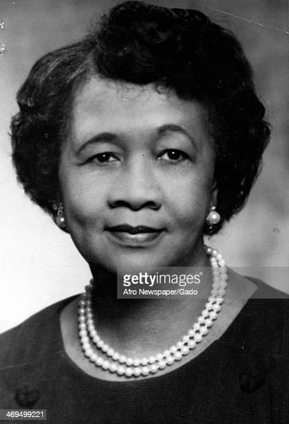 A portrait of Dorothy I Height civil rights activist and President of the National Council of Negro Women 1960