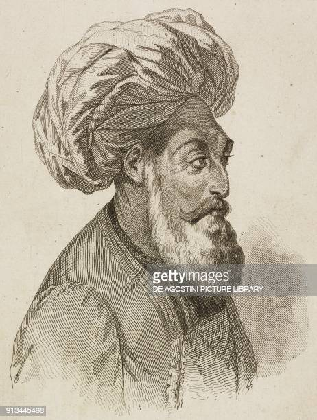Portrait of Dost Mohammed Khan emir of Afghanistan engraving by Lemaitre and Vernier from Afghanistan by Xavier Raymond from Tararie Belouchistan...