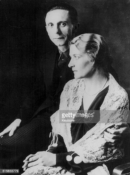 Portrait of Dr Joseph Goebbels Reich Minister of Propaganda for the Nazi Party and his wife January 13th 1939