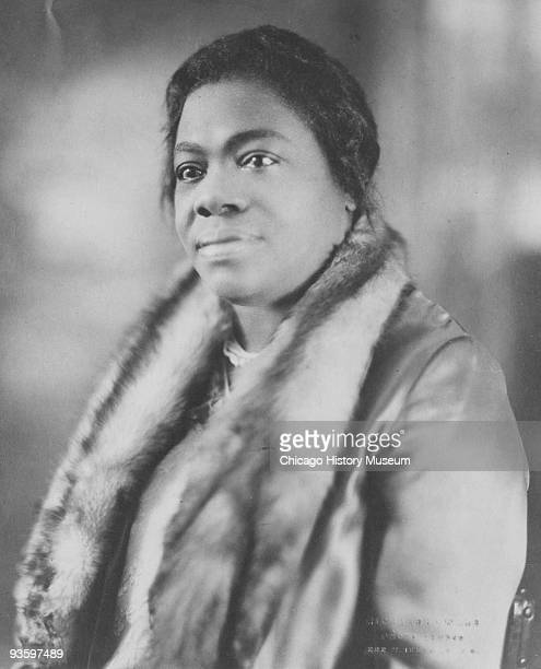 Portrait of Dr Mary McLeod Bethune civil rights activist and president and founder of Bethune Cookman College ca1920s