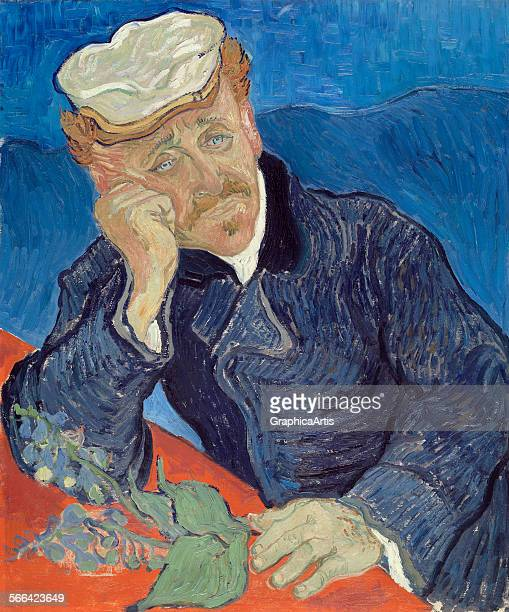 Portrait of Dr Paul Gachet by Vincent van Gogh oil on canvas from the Musee d'Orsay Paris