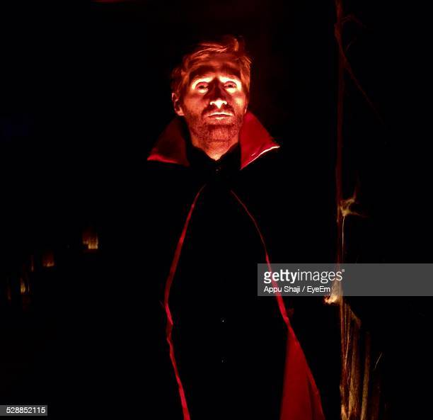 portrait of dracula at night - count dracula stock photos and pictures