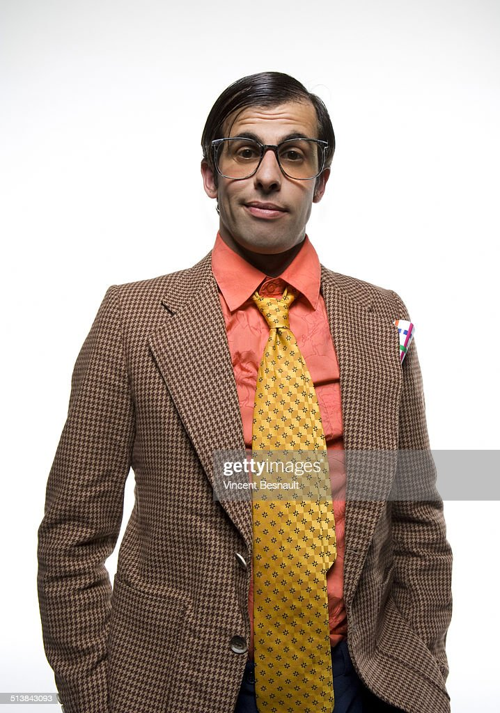 Portrait of drunck office worker : Stock Photo