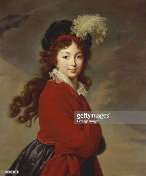 Portrait of Duchess Anna Feodorovna of Russia , Princess Juliane of Saxe-Coburg-Saalfeld, circa 1796. Found in the collection of Destroyed in the...
