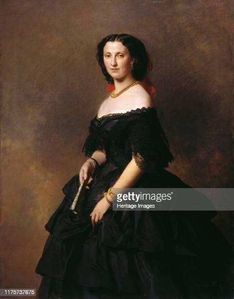 Portrait of Duchess Elizaveta Alexandrovna Baryatinskaya, née Princess Chernysheva . Found in the Collection of State A. Pushkin Museum of Fine Arts,...