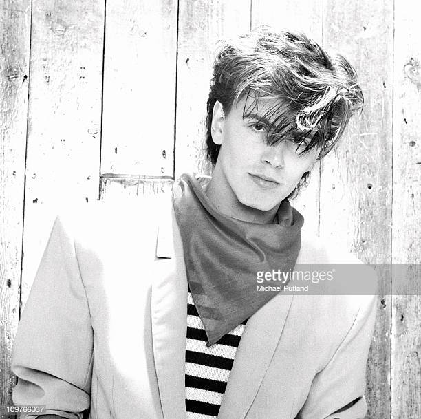 Portrait of Duran Duran bassist John Taylor in London England in 1981