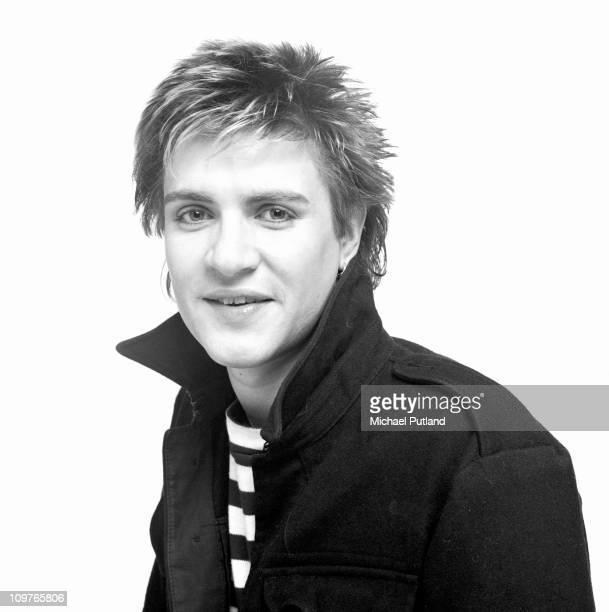 Portrait of Duran Duran lead singer Simon Le Bon in London England in 1981