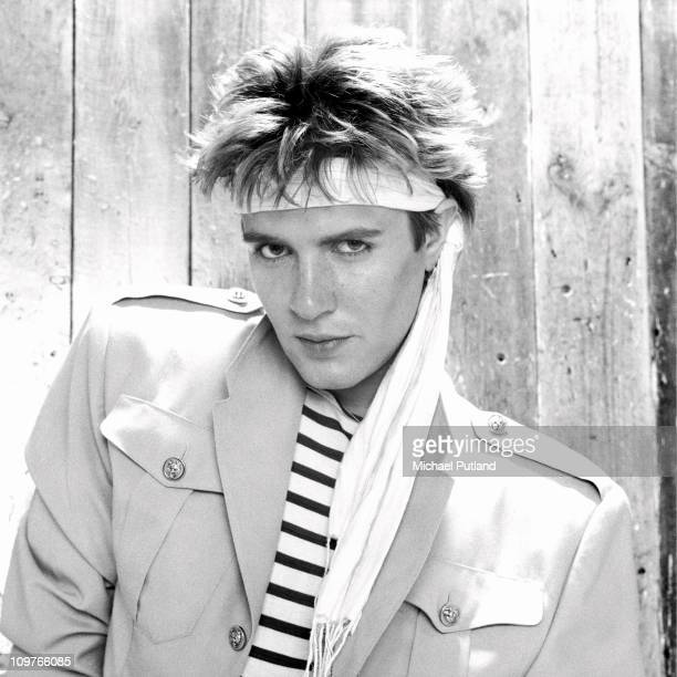 Portrait of Duran Duran lead singer Simon Le Bon in London England in 1981