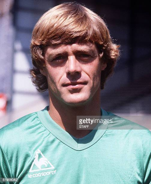 Portrait of Dutch forward Johnny Rep taken in the early 80's in SaintEtienne where he played from 1979 to 1983 winning the French championship title...