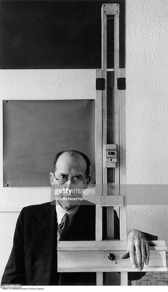 Portrait of Dutch painter Piet Mondrian January 17, 1942 in New York City.