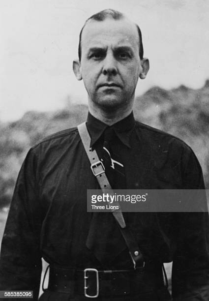 Portrait of Dutch politician and former Nazi Meinoud Rost Van Tonningen now President of the Dutch National Bank circa 1945