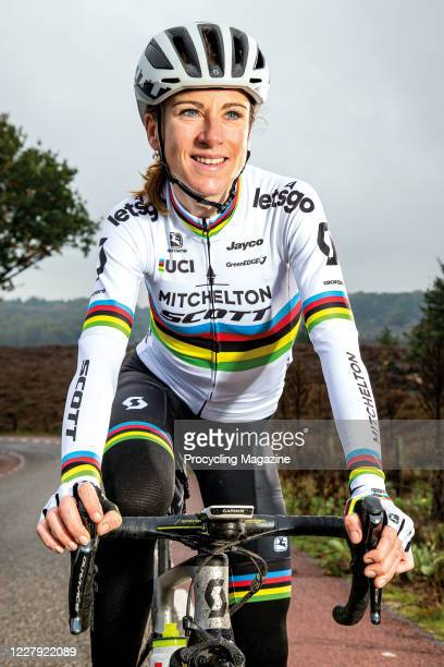 Portrait of Dutch professional cyclist Annemiek van Vleuten, photographed near Arnhem, Netherlands, on October 17, 2019.