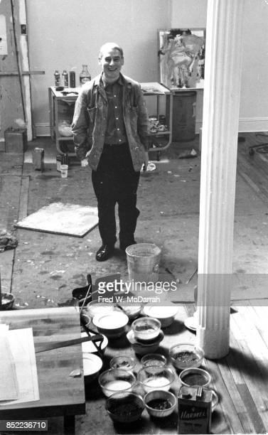 Portrait of Dutchborn American artist Willem de Kooning in his loft studio New York New York March 23 1962